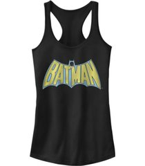 fifth sun dc batman retro cape logo women's racerback tank