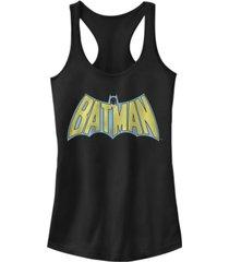 fifth sun dc batman retro cape logo juniors racerback tank