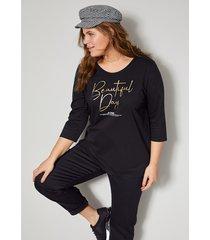 shirt janet & joyce zwart