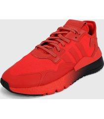 tenis lifestyle rojo-negro adidas originals nite jogger
