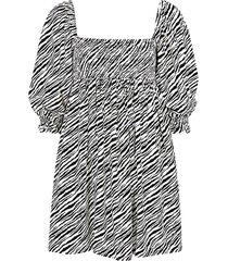aline zebra-print mini dress
