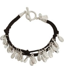 robert lee morris soho shaky charm suede bracelet