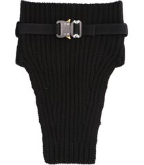 1017 alyx 9sm knit neck warmer with metal buckle neck