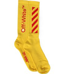 off-white socks with logo
