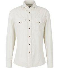 cotton micro-corduroy shirt