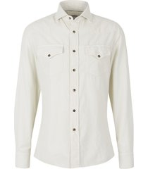 cotton micro-corduroy shirt