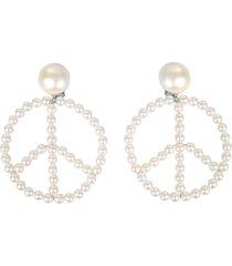 moschino clip earrings