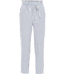 pantaloni effetto lino con elastico in vita (bianco) - bodyflirt