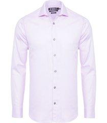 camisa masculina maquineta espinha de peixe - rosa