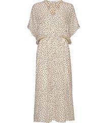 andina long dress aop 8083 jurk knielengte crème samsøe samsøe