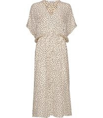 andina long dress aop 8083 jurk knielengte zwart samsøe samsøe