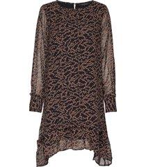 selina dress knälång klänning brun soft rebels