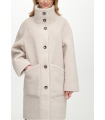dkny reversible faux-shearling-lined coat