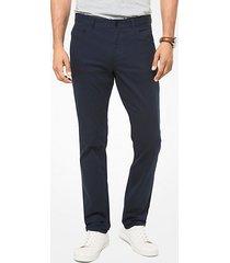 mk pantalone slim-fit parker in twill stretch - notte (blu) - michael kors
