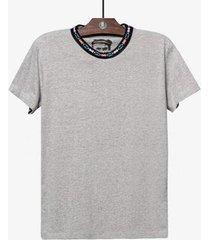 camiseta gola étnica hermoso compadre masculina - masculino