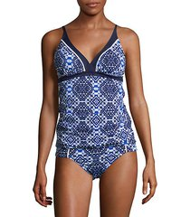 printed tankini top