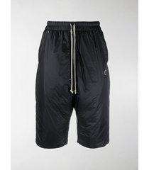moncler + rick owens drawstring waist padded shorts