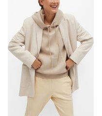 mango women's flecked blazer