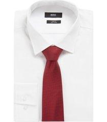 boss men's medium red traveller tie