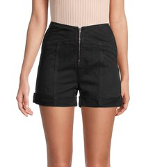 iro women's kabin denim shorts - black - size 34 (2)