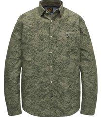 long sleeve shirt chambrey print deep lichen green
