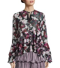 queen of the night magnolia blossom ruffle top