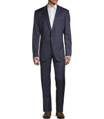 saks fifth avenue men's samuelsohn reda mini pinstripe wool suit - navy - size 46 l