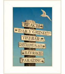 "trendy decor 4u beach directional by graffitee studios, ready to hang framed print, white frame, 14"" x 18"""