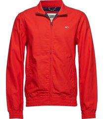 tjm casual cotton jacket tunn jacka röd tommy jeans