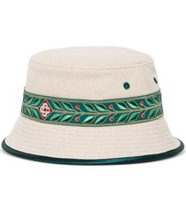 casablanca wool and cotton laurel buket hat