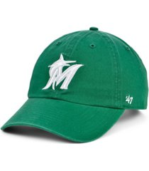 '47 brand miami marlins kelly white clean up cap