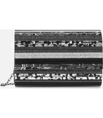 kurt geiger london women's party envelope clutch - black/multi