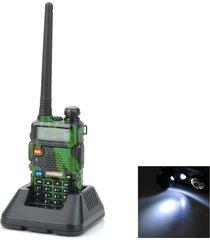 """baofeng uv-5r lcd de 1,5"""" de doble banda 5w 128-ch walkie talkie de camuflaje (exportación)"""