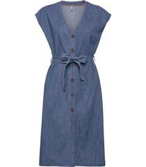 pztinka dress knälång klänning blå pulz jeans