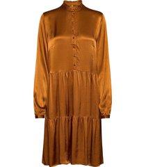 pzmiley dress kort klänning brun pulz jeans