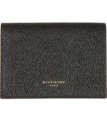 givenchy button snap lock compact wallet