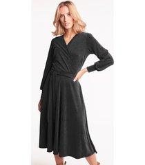 czarna sukienka kopertowa noelle
