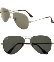 ray-ban original 58mm aviator sunglasses - lite pewter