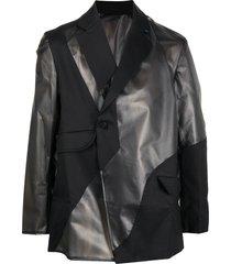 a-cold-wall* geometric overlay tailored blazer - black