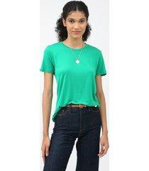 t-shirt liocel basic - verde - p