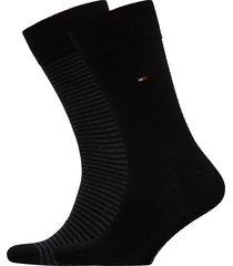 th men small stripe sock 2p sockor strumpor svart tommy hilfiger