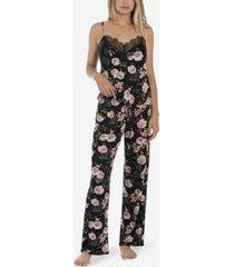 midnight bakery women's nala printed floral cami pajama set