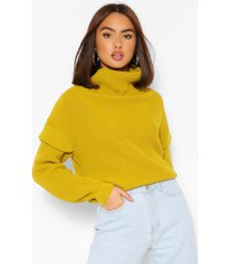 shoulder detail sweater, olive