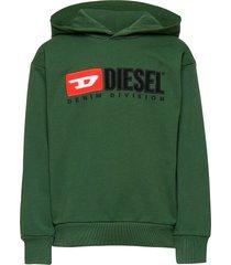 sdivision over sweat-shirt hoodie trui groen diesel