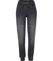 jeans stile biker con cinta comoda (nero) - bpc bonprix collection