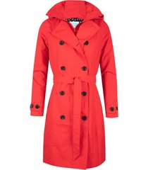 happyrainydays regenjas trenchcoat zipper rosa red-s