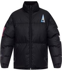 puffer jacket with logo