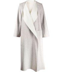 agnona oversized cashmere coat - grey