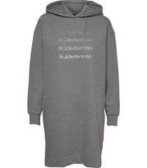 w ground hood dress dresses everyday dresses grå peak performance