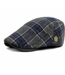 uomo berretto invernale di lana mista pesante a rete cap newsboy cowboy cabbie hat